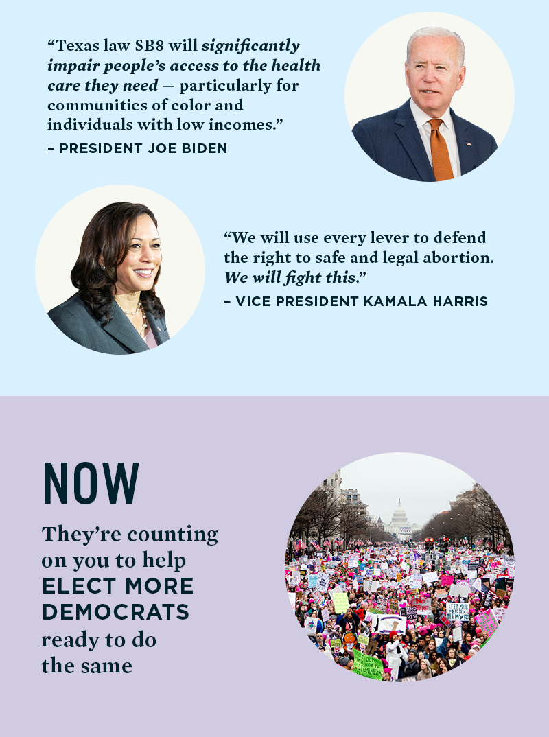 NOW: They're counting on you to help elect more Democrats ready to do the same