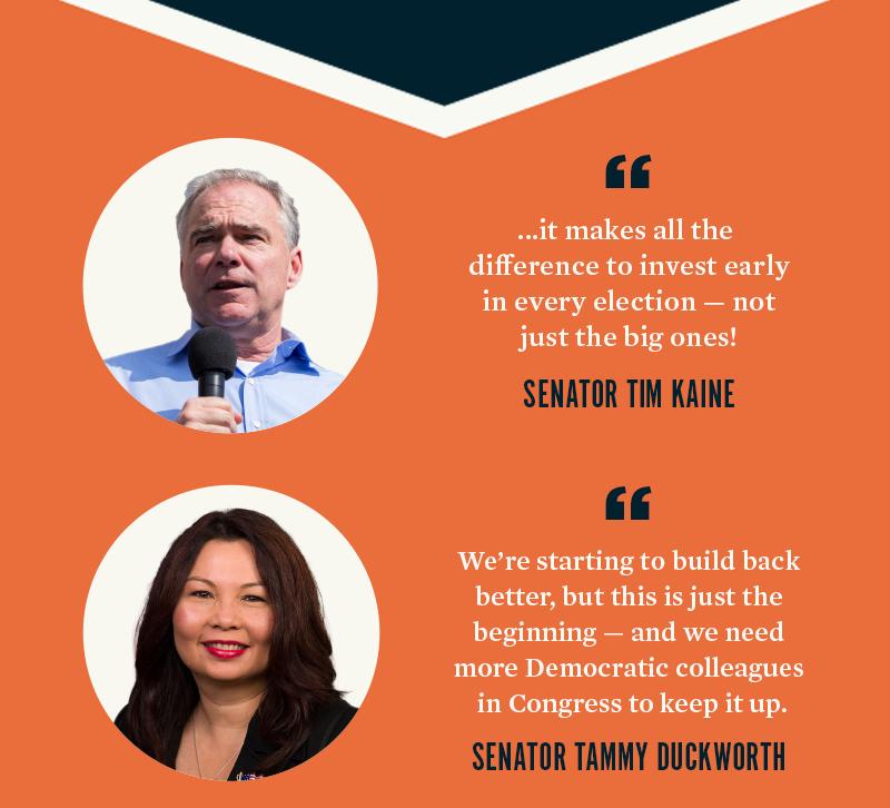 Senator Tim Kaine, Senator Tammy Duckworth